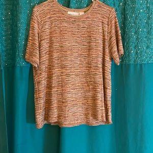 Women's Short-Sleeved Multi-Colors Sweater